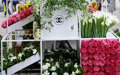 Chanel flower stall pop-up shop!