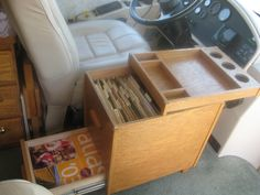 Nice storage for important travel documents, maps, etc.