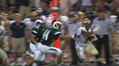 Running Back Andre Robinson zigs around the Central Dauphin defense on his way to a 36-yard touchdown. (09/07/12)