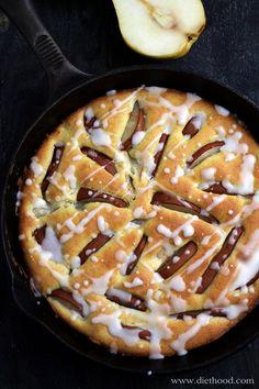 Pear Cake with Lemon Glaze