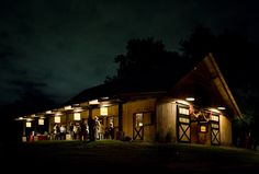 Lovely horse barn in Tennessee. Featured in Martha Stewart Weddings. Lucas Equine stalls.
