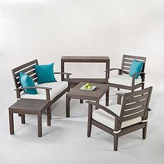 For the back patio: Laguna Occasional Outdoor Collection | World Market $245 set