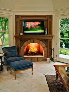 Television Fireplace Enclosure Design, Pictures, Remodel, Decor and Ideas - page 17