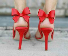 Red bow sandals!
