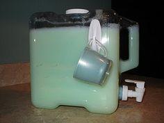 Homemade Laundry Soap soaps, soap dispenser, soap recipes, homemade laundry soap, homemade laundry detergent, liquid laundri, laundri soap, homemade detergent, storage ideas