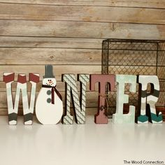 The Wood Connection - Winter Letter Set, $13.95