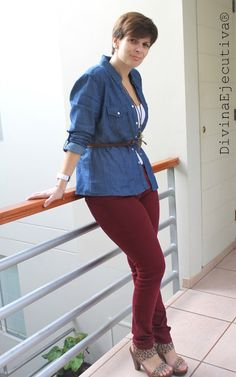 Divina Ejecutiva: Mis Looks: Camisa de Jean