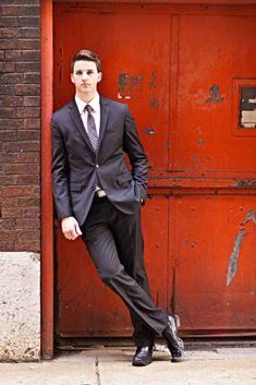 Senior boy photo shoot.  I like the suit with the urban theme.