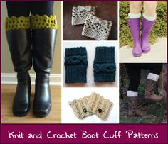 Knit and Crochet Boot Cuff Patterns - Craftfoxes
