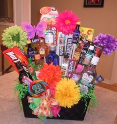 A 40th gift basket I made for a great friend.