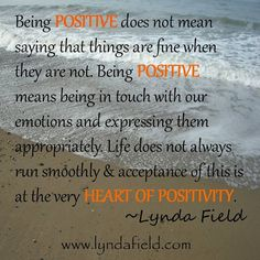 being positive ... quotes