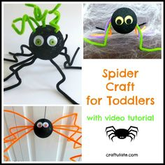 Spider Craft for Toddlers from Craftulate
