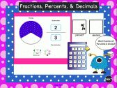 SMARTBoard Interactive Fraction, Percent, and Decimal Practice product from 1-2-3-Interactive-Classro on TeachersNotebook.com