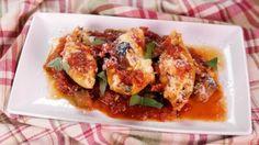 Stuffed Shells with Eggplant Tomato Sauce