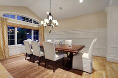 A simple, modern and elegant dining room. Yarrow Point, WA Coldwell Banker BAIN intric wood, dine room, decor galor, design decor, coldwell banker, decad dine, outdoor design, design layouts, coldwel banker