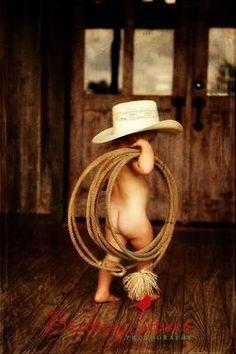 Omg adorable!!! little cowboy butt :)