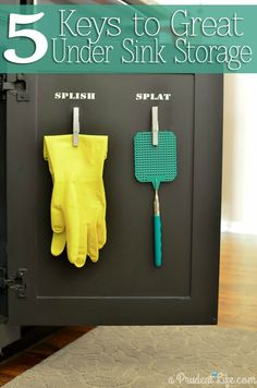 5 Keys to Maximizing Under Sink Storage