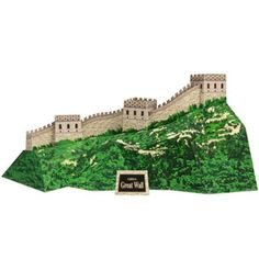 Great Wall Of China - Three Free Different Free Paper Models - Three models - three different versions of the same landmark. One of the New Seven Wonders of the World. Read more and find the links to download these nice free paper models at Papermau!