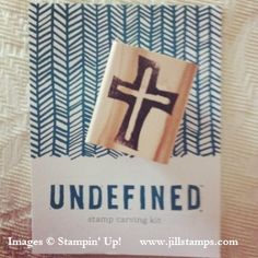 My first hand-carved stamp using Stampin' Up!'s  Undefined! www.jillstamps.com