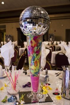 Centerpiece for 70's party :)