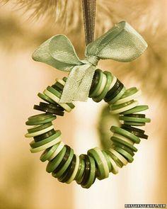 Button ornament.