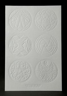 """""""the virtues of man"""" symbols... sacred geometry & sigils"""