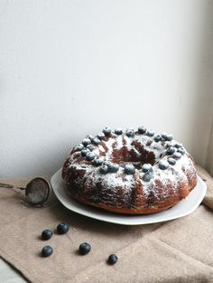 Ricotta Cheese and Blueberries Cake