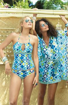 Love this swimsuit and print.