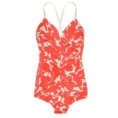 kate spade | cockatoo cross-back retro maillot swimsuit