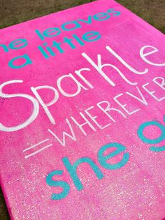 Girl Sparkle Canvas painting