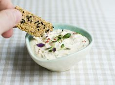 goat cheese and thyme dip.