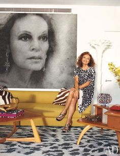 Fashion designer Diane von Furstenberg, the real and the representation, in her Manhattan penthouse.