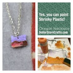 Yes, you can paint shrinky plastic! I never would have thought of that. So easy!
