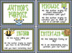 author's purpose cards