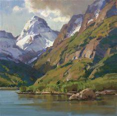 art water, landscap art, artpanoram landscap, scott christensen, inspir paint, art mountain, mountain landscap