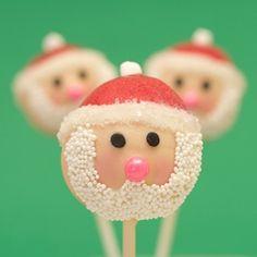christmas bells, christmas cakes, cinnamon almonds, santa cake, santa christma, christma cake, christmas cake pops, cakepop, holiday snacks