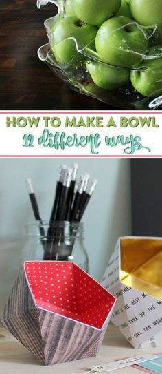 If you want a fun DIY project idea perfect to make on a weeknight  or with your family then this is the one for you. This roundup is full of some  great ways to make DIY bowls, how fun is that? From catch-all bowls to jewelry dishes,  you can create your very own bowl from a tutorial on this list. #diy #crafts #projects #diycrafts #diyprojects #fundiys  #funprojects #diyideas #craftprojects #diyprojectidea