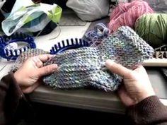 Como Empezar Pantufla/calcetin x punta/telar azul parte1 - YouTube