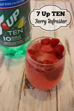7 Up TEN Berry Refresher Drink {low calorie} Super yummy drink for a hot day! #ad
