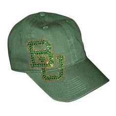 Sparkly #Baylor twill baseball hat - Diane Dal Lago ($29.95 on neebo.com) #SicEm