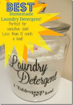 7-31-13 been using this homemade detergent all month with vinegar as a fabric softener & am so impressed! I do miss the yummy smell of detergent but this gets the clothes very clean the first time thru! And they smell well, clean :) no problems with the sensitive skin of my husband or newborn.