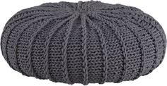 knitted shale jumbo pouf
