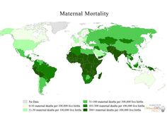 Worst places in the world to be a woman: showing maternal mortality