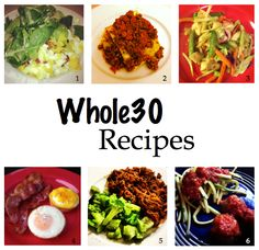 Whole30 Recipe Recap #paleo #cleaneating #healthy #recipe #whole30