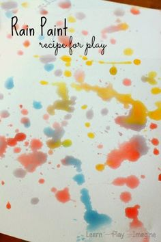 Rain painting with kids with this simple, two ingredient, scented paint recipe made with rain.