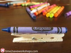 Crayon Clothespin Magnets!