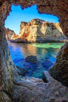 Caves in Lagos, Portugal...