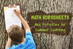 Keep those formulas for multiplication, division, and more fresh in your child's mind! We've got some math worksheets and activities on our All About Math Pinterest board. Feel free to refer to these all summer long. #summerlearning