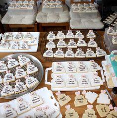 wedding cookie seating cards