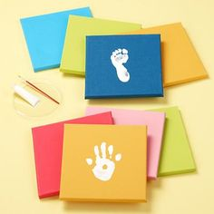 Do this yourself and then hang in kids room.  Or do hand print of everyone in the family and hang in living room.